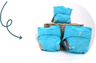 couche lavable bleue Hamac - mobile