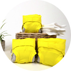 couches lavables jaunes hamac - mobile